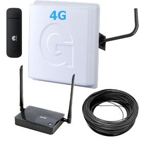 антенна и роутер для интернета на даче